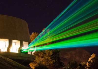 Spectacular Laser Light Show on the Spillway of Grand Coulee Dam