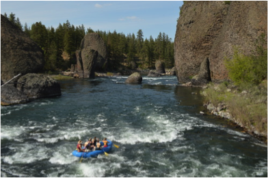 River Rafting on the Spokane River